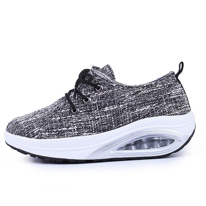 JARLIF Women's Comfortable Platform Walking Sneakers Lightweight Air  Cushion Fitness Tennis Shoes (5.5 B(M), Black): Amazon.ca: Shoes & Handbags