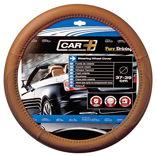 CAR+ 2505112 Tobacco Brown Aero Steering Wheel Cover