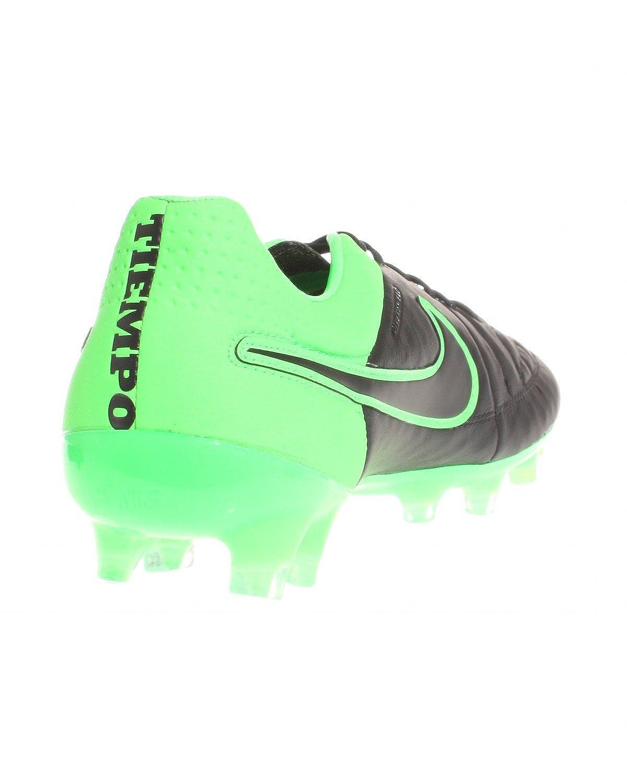 1baa4aa6044 Nike Tiempo Legend V FG Men s Soccer Cleats (Black Black-Grn Strk-Grn Strk