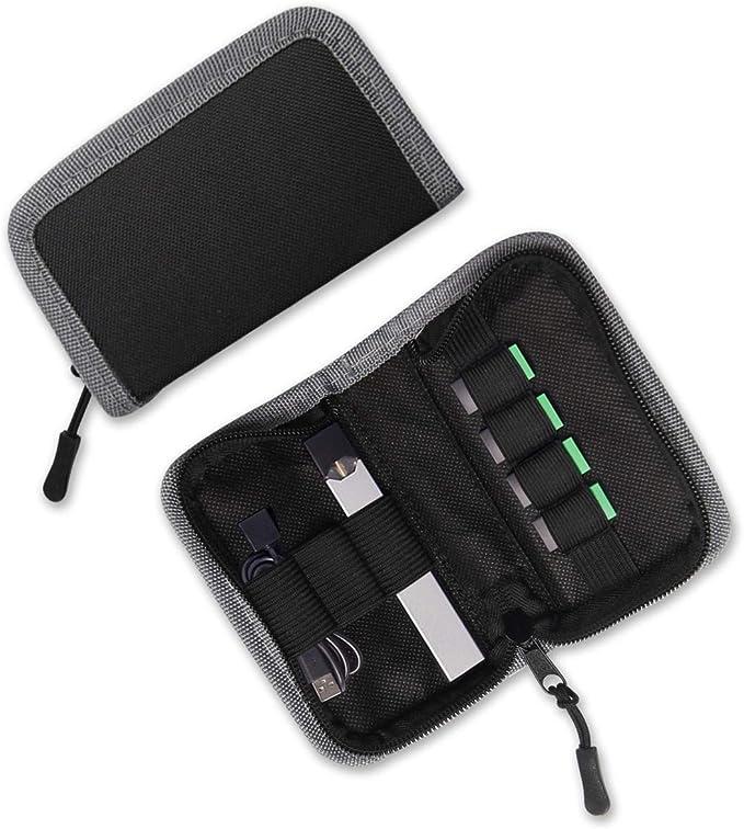 Funda de transporte para JUUL y demás vapeadores | Con capacidad para el vapeador, sus cápsulas y el cargador | Cabe en bolsillos o bolsos | Dispositivo no incluido| Color negro: Amazon.es: Electrónica