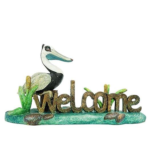 Aoneky Figura de Bienvenido a Casa Jardín, Estatua de Pájaro ...