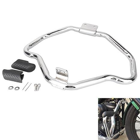 Motorcycle Crash bars Protector For Davidson Sportster  XL883 2004-2016 Black