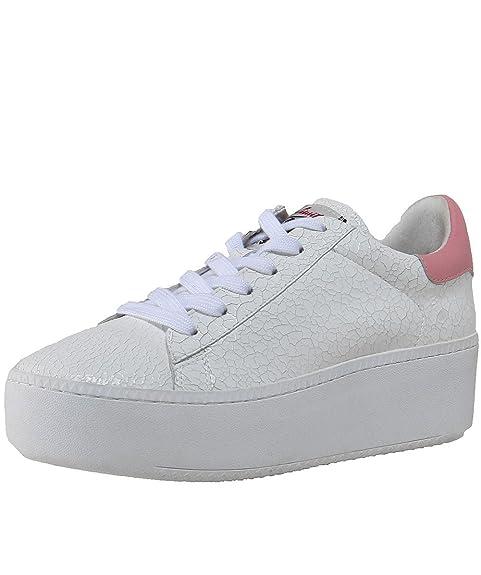 Ash Zapatos Cult Zapatillas de Cuero Bianco y Rosa Mujer: Amazon.es: Zapatos y complementos