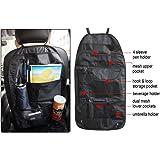 Vheelocityin 70992 Black Car Back Seats Multi-functional Pockets Storage Organizer Bag