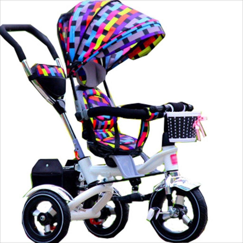 子供の屋内屋外小型三輪車自転車の男の子の自転車の自転車6ヶ月-5歳の赤ちゃんスリーホイールトロリー、ダンピング/折りたたみ/回転座席 (色 : 7) B07FGDG2ZV 7 7