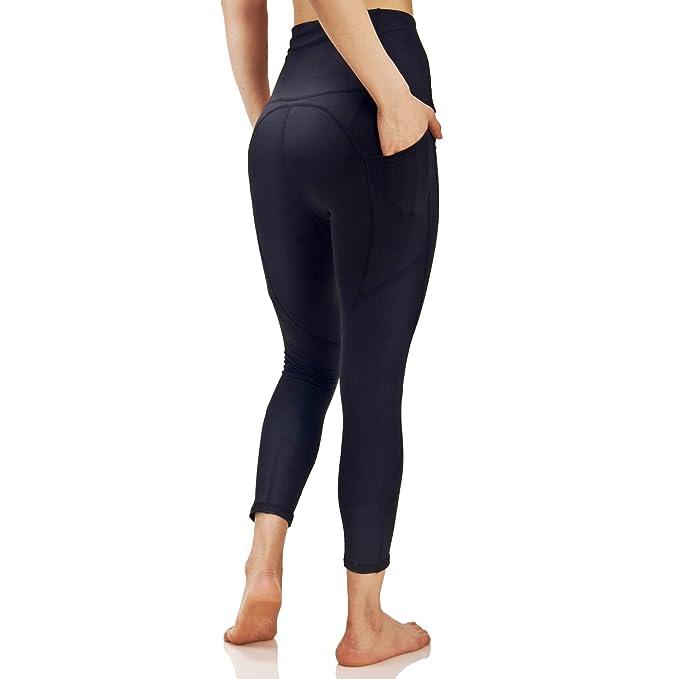 a83a191d0278ab Evobak Yoga Pants for Women Sports Leggings Athletic Pants Black Workout  Active Wear (CCHY009_Black,