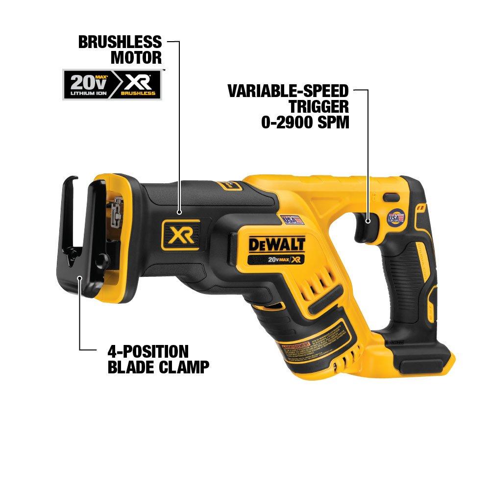Compact 4-Tool DCK484D2 DEWALT 20V MAX XR Brushless Combo Kit