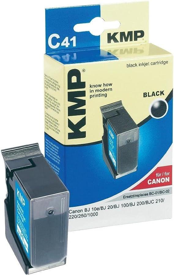 Kmp C41 Tintenpatrone Ersetzt Bc01 Bc02 Canon 27 Ml Gr 907 Schwarz