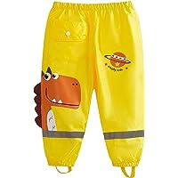 wetry Pantalones Impermeables de Agua para Niños Niñas,Dibujos Animados Dinosaurio Pantalon Lluvia al Aire Libre