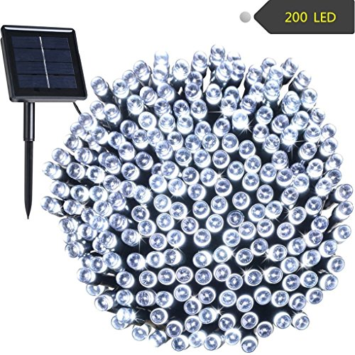 Solar String Lights Outdoor Waterproof 72ft 200 LED Fairy Garden String Lights Decoration Lighting for Patio Lawn Christmas Wedding Party Holiday - Outlets Place Lighthouse