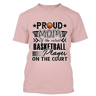 6e13e3b46 BigTees Basketball T Shirt - Proud Basketball Mom Cool T Shirts Design  Unisex (S