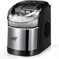 Compact Ice Cube Maker for Countertop, Self-Cleaning Function, Making Bullet Ice Cubes 12Kgs/24 hrs, 9 Ice Cubes Per 8…