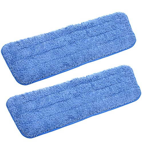 COSMOS Pack of 2 Microfiber Replacement Mop Pad for Wet & Dry Home & Commercial Cleaning Refills, 16 x 5.5