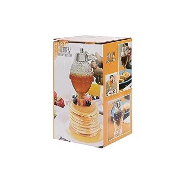 Winbang Dispensador de Miel, 200 ML Acrílico Miel Botella de Goteo Jugo Abeja Goteo Botella Contenedor Taza Herramienta, Transparente: Amazon.es: Hogar