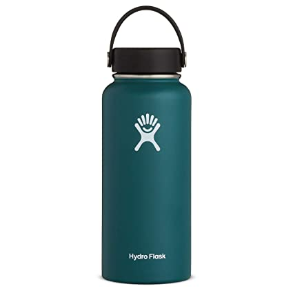 Hydro Flask Water Bottle - Stainless Steel & Vacuum Insulated - Wide Mouth with Leak Proof Flex Cap - 32 oz, Jade best gifts for VSCO girls