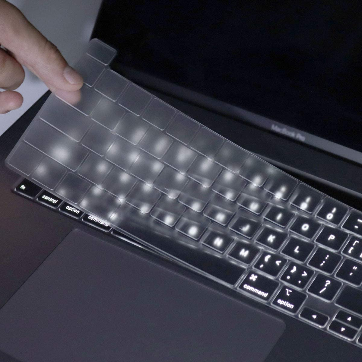 Kuzy New MacBook Pro 13 inch Keyboard Cover 2020 A2289 and MacBook Pro 16 inch Keyboard Cover 2019 A2141 Silicone Key Board Skin Thin Protector for MacBook Pro Keyboard Cover with Touch Bar Black