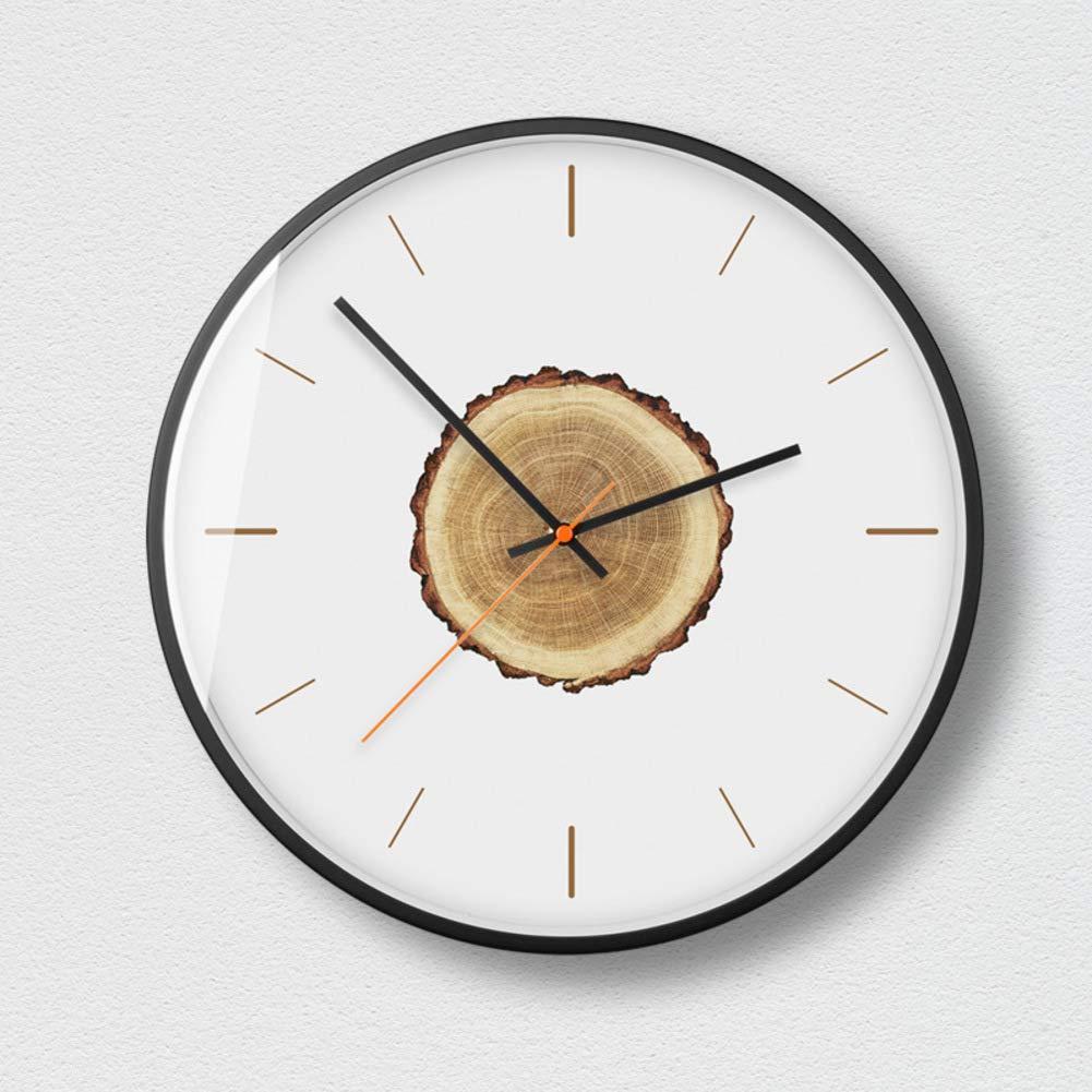 Amazon.com: JRMU Round Wall Clocks Silent, Modern Simple ...