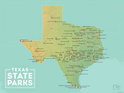 Amazon.com: Best Maps Ever Texas State Parks Map 18x24 ...