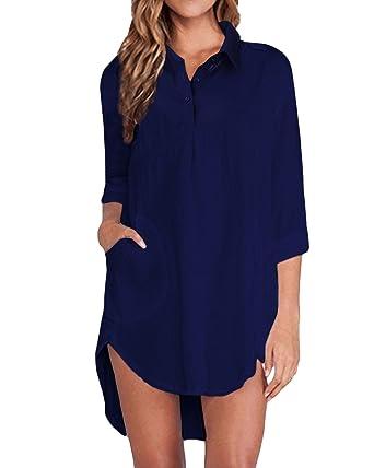 ZANZEA Women Buttons Collar Long Sleeve Coats Ladies Casual Loose Shirt Cardigan