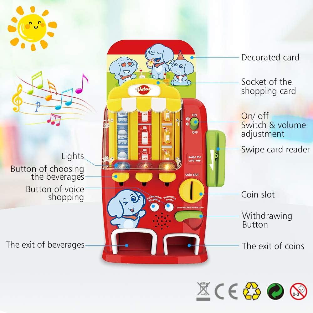 Juguetes educativos para ni/ños de 3 4 5 6 a/ños o m/ás y ni/ños Gilrs m/áquina expendedora de Juguetes con luz y Sonido VATOS M/áquina expendedora de Juguetes