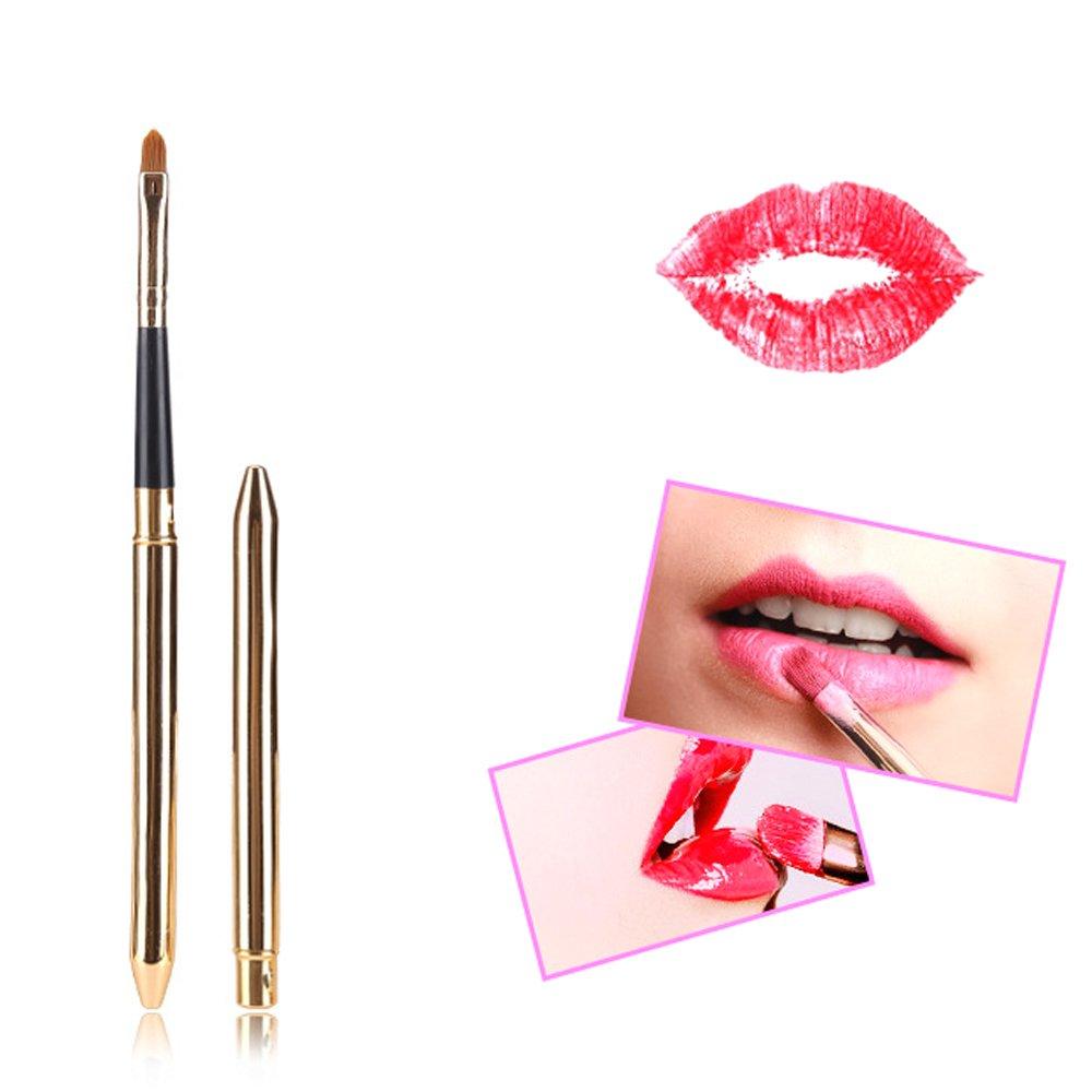 Travelmall 6Pcs Womens Easy Peel Off Long Lasting Makeup Tatto Lip Gloss Lipstick Waterproof Tear Pull Lipstick and 1Pcs lip brush