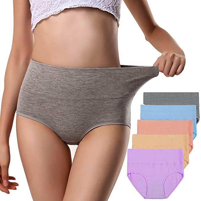 570d87aadc5 Annyison Womens Underwear, Soft Cotton High Waist Breathable Solid Color  Briefs Panties for Women