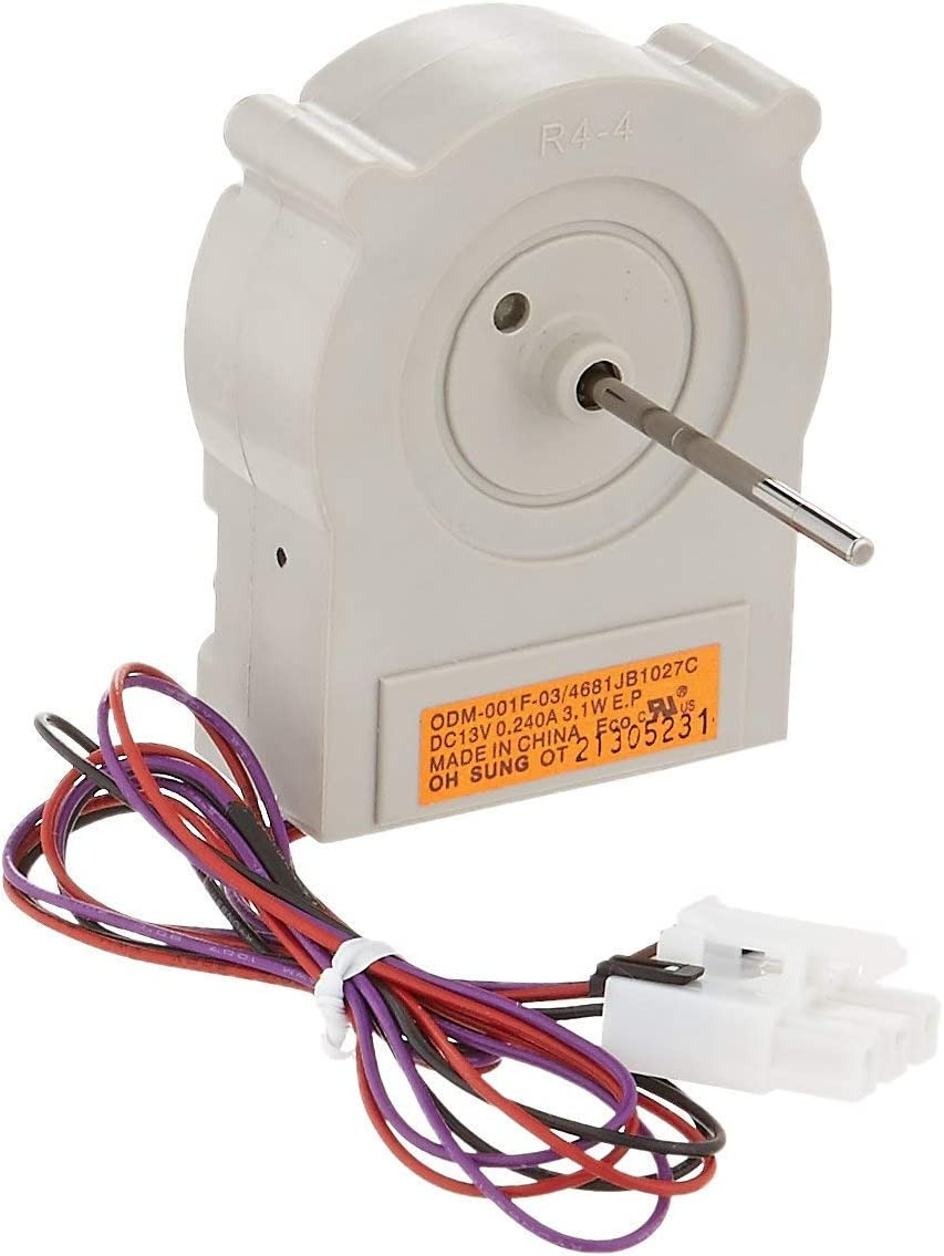 OEM Mania Authorized Factory Replacement 4681JB1027C Evaporator Fan Motor Compatible with LG Refrigerator