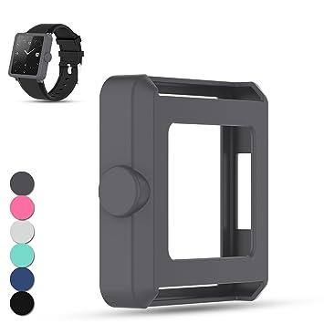 Feskio - Funda protectora de silicona para Sony SmartWatch 2 SW2 ...
