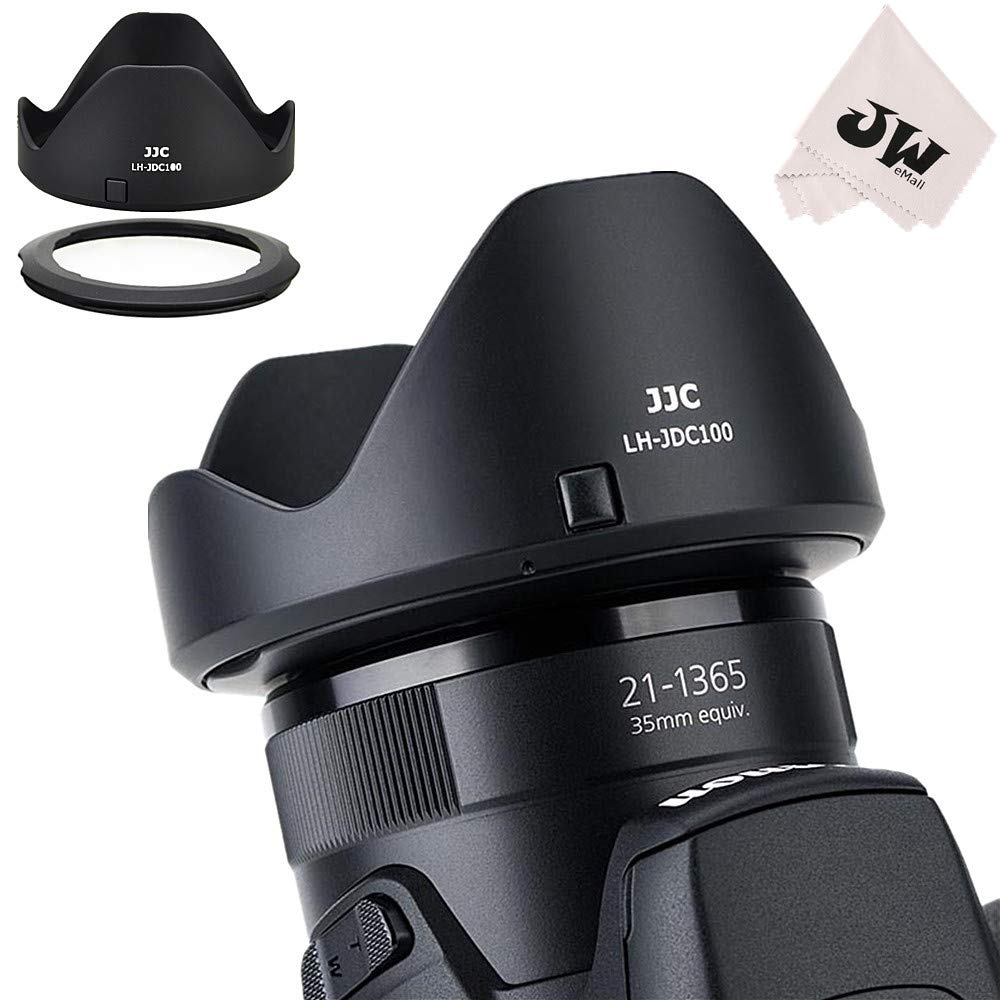 JJC Reversible Lens Hood Shade Protector & 67mm Filter Adapter Ring for Canon Powershot SX70 HS, G3 X, SX60 HS, SX50 SX40 HS, SX30 is, SX20 is, SX540 SX530 SX520 HS Replaces Canon LH-DC100 & FA-DC67B by JJC