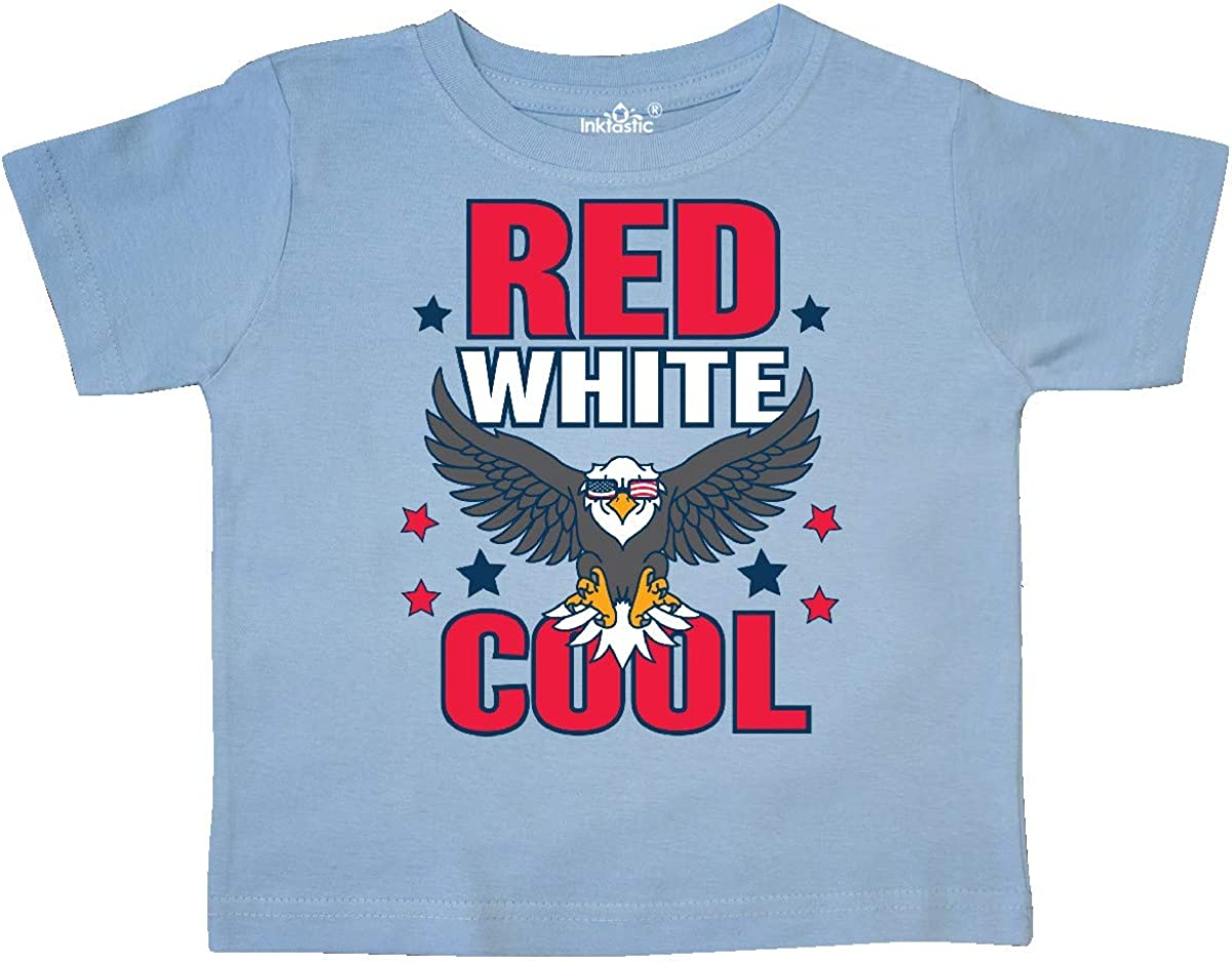inktastic Red White and Cool with Eagle in Sunglasses Toddler T-Shirt