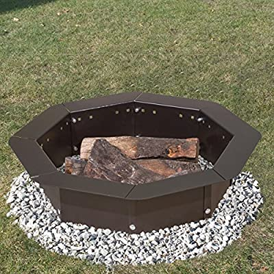 Heavy Duty Bolt-Together Campfire Ring or Fire Pit Insert Model IO-30/8 Park Grill - Made in the USA - - 8-sided bolt-together steel campfire ring. All fasteners included. Made in the USA! Wide top flange provides a safe and useful surface area Fits fire pits with 30in. to 35in. inside diameter - patio, fire-pits-outdoor-fireplaces, outdoor-decor - 61ZBmr0gKzL. SS400  -