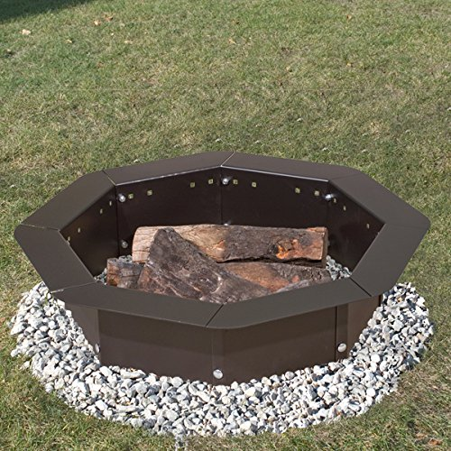 61ZBmr0gKzL - Heavy Duty Bolt-Together Campfire Ring or Fire Pit Insert Model IO-30/8 Park Grill - Made in the USA -