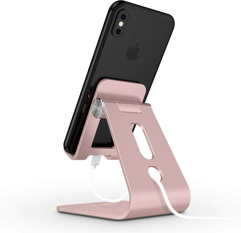 Soporte Tel/éfono Mesa para iPhone XS XS MAX XR X 8 7 6 Plus apiker Soporte M/óvil Mesa,Soporte de Aleaci/ón de Aluminio Ajustable Huawei Samsung Note10