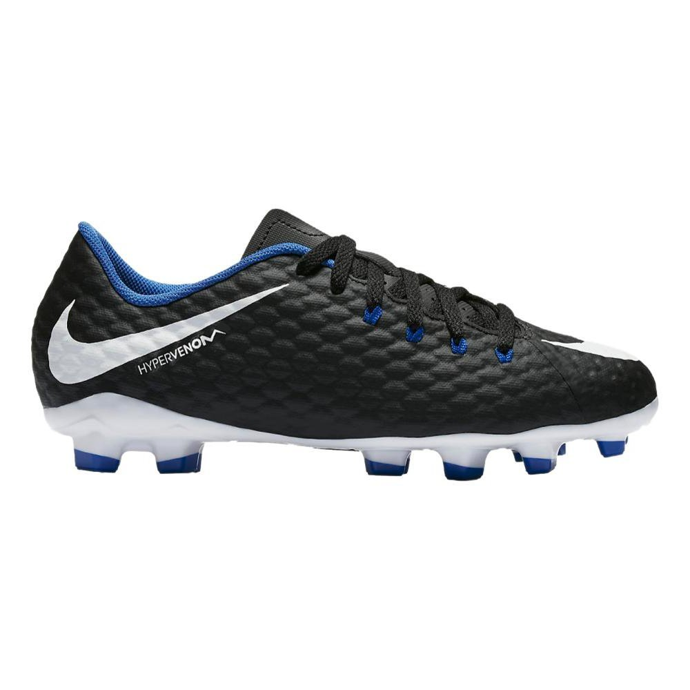 Nike JR. Hypervenom Phelon 3 FG Hartböden Kind Fußball Stiefel 28.5 – Fußballschuh (Hartböden, Kind, männlich, Schwarz, Weiß, einfarbig, Lederoptik