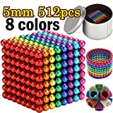 MENGDUO Set of 216 (5mm) Magnetic Balls Fun Stress Relief Desk Toy for Adults ,Building Blocks Fidget Gadget Toys for Stress Relief (512pcs)