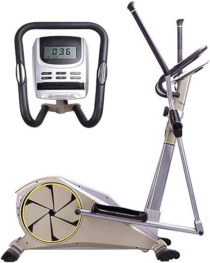 HECHEN Bicicleta elíptica para Ejercicios de Entrenamiento Cruzado, Equipo Multifuncional Mudo para con Control magnético bidireccional LCD, Sensor de frecuencia cardíaca Ajustable + 8 velocidades: Amazon.es: Deportes y aire libre