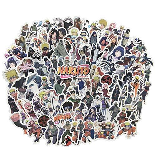 Maidudu 105 pcs Naruto Stickers Japanese Anime Vinyl Stickers