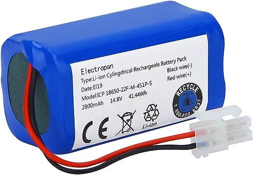 Electropan Batería de repuesto para robot aspirador ILIFE A4, A4S ...