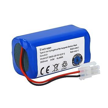 Electropan Batería de repuesto para robot aspirador ILIFE A4, A4S, A6 y V7 de 14,8 V y 2.800 mAh