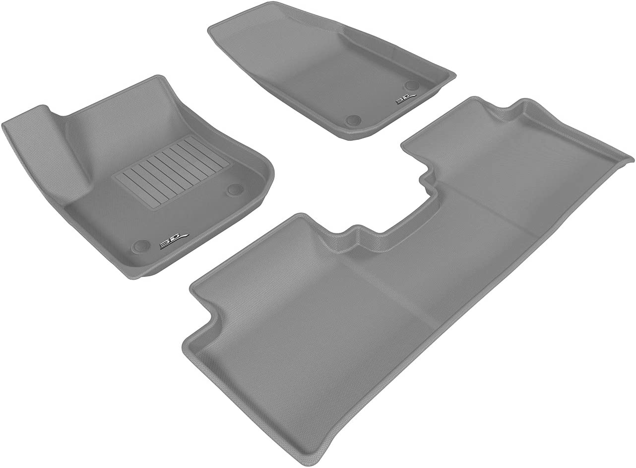 Kagu Rubber 3D MAXpider Complete Set Custom Fit All-Weather Floor Mat for Select Buick Envision Models Gray