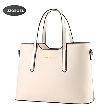 4a00c1bfac Women s PU Leather Shoulder Bags Top-Handle Handbag Tote Bag Simple Purse  Fashion Cross Body