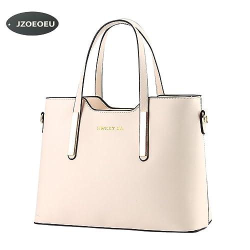 Women s PU Leather Shoulder Bags Top-Handle Handbag Tote Bag Simple Purse  Fashion Cross Body 3ba2cd4370763