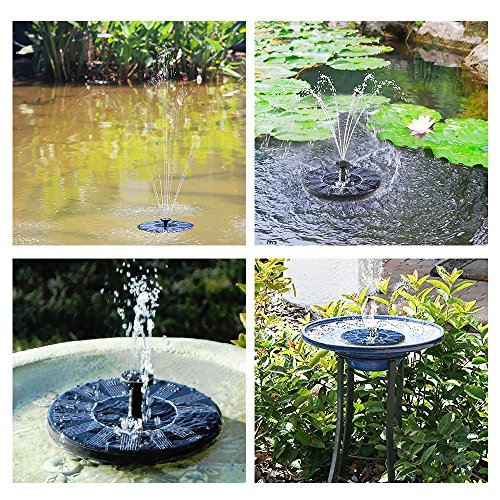 Victsing solar powered bird bath fountain pump with 1 4w for Outdoor fish fountain