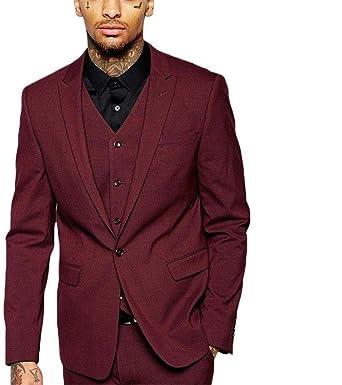 AK Beauty Mens 3 Piece One Button Formal Wedding Suit ...