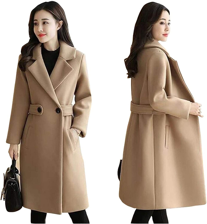 Amazon Com Dear Diary Store Winter Clothes Wool Coat Belt Slim Women Coat Korean Autumn Woolen Coat Double Breasted Jacket Clothing