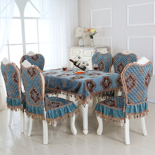 Upholstery Set Back (HuaShaoThe Dining Table Chair Set Cover Home General Purpose Cloth Table Cloth Upholstery Chair Pad Set, Green, Chair Pads & Back)