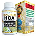 Garcinia Cambogia Extract PURE HCA EXTREME Instant Acting Slim Formula Plus Appetite Suppressant Premium 100% All Natural Diet Pills That Work Fast For Women & Men To Lose Weight