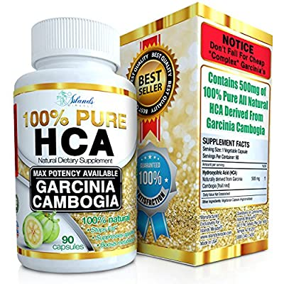 100% HCA Pure Garcinia Cambogia Extract Extreme Weight Loss Supplement Slim Formula Diet Pills For Women and Men That Work Fast - Reduce Appetite & Helps Block Fat To Lose Weight & Increase Energy
