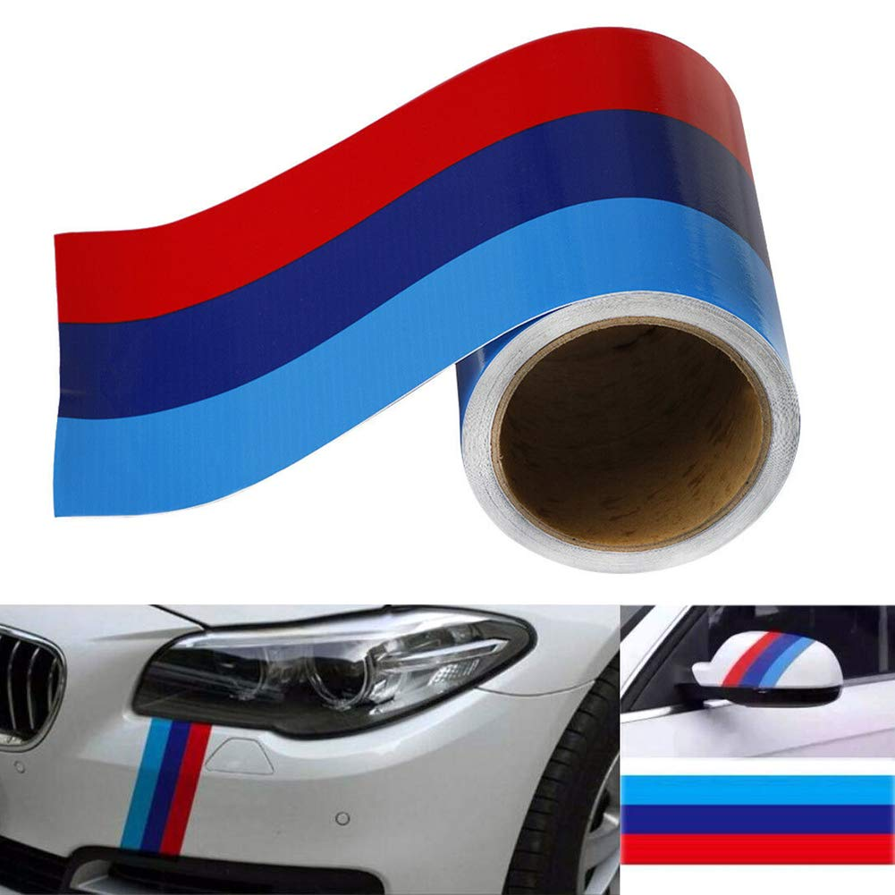 Mioloe Coche Posterior Ver Espejo Raya Pegatina Coche Cuerpo Lado Vinilo Calcoman/ía para BMW M3 M4 M5 M6 3 5 6 7 Series