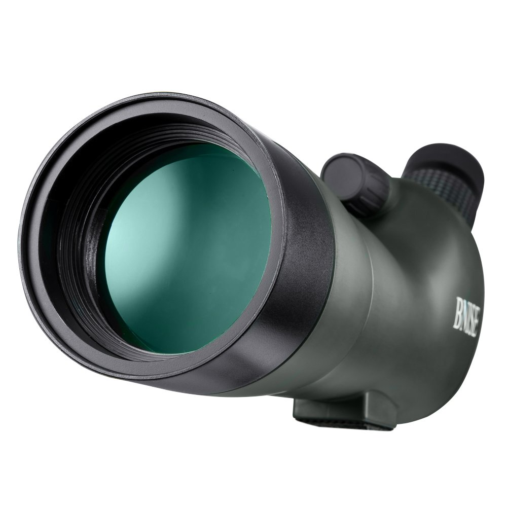 BNISE Spotting Scope - FMC Optics - 20-60x60 Zoom Monocular Waterproof Telescope - With Tripod and Case for Hunting, Camera and Phone Photography Adapter